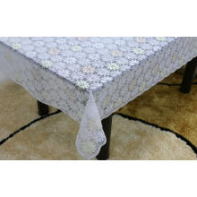 Printed pvc lace tablecloth as backsplash